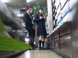 Censored Cute Japanese student fucked while reading