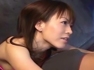 Horny Japanese Ai Himeno gives the awesome lick