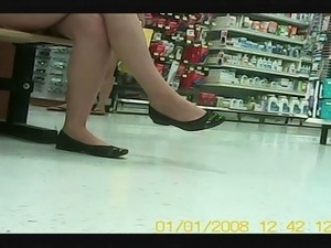 Asian Candid Teen with great legs and feet in flats