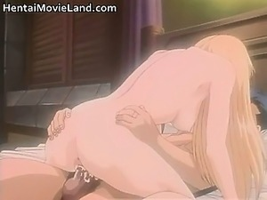 Sexy blond anime gets aroused as gets
