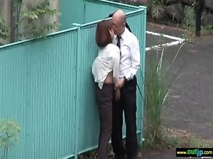 Outdoor Hot Asians Get Hardcore Sex clip-35