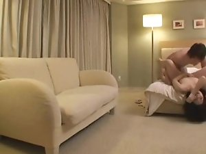 Tight asian couple fuck in hotelroom