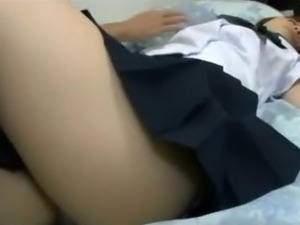 Schoolgirl Getting Her Nipples Sucked Pussy Fingered By Old Man While