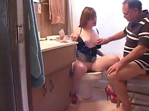 Slutty Daughter Plays With Her Daddy..