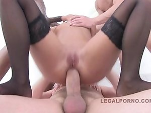 Amirah Adara Gangbanged by 3 Cocks