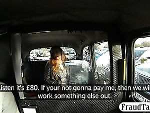 Amateur fucked by pervert driver for not paying her fare