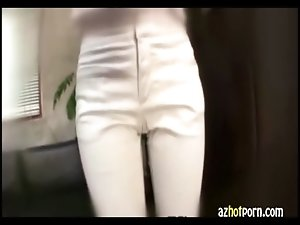 AzHotPorn.com - Fitting Pantyhose Ass Job Beauty OL