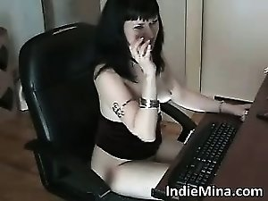 Amazing hot and sexy dark haired slut part1