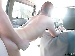 Tattoed hoe riding dick in bus