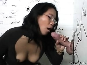 Asian wife gets a surprise!
