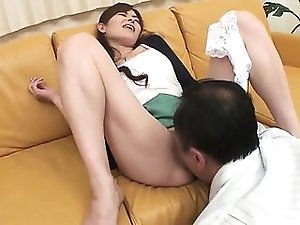 This pussy hound loves Hitomi Kanou's soaking wet pussy